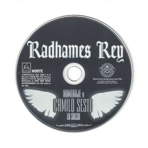 Radhames Rey - Homenaje A Camilo Sesto - J&N Music Store